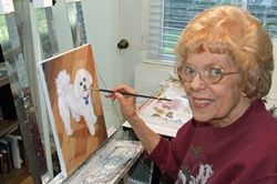 The renowned artist found a career in retirement.